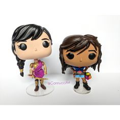 Funko pops made by me (GannucciArt) featuring Piper (with horn of plenty) and Reyna!  #custom #funko #pop #customfunkopop #customfunko #custompop #funkopop #funkopopvinyl #popvinyl #pipermclean #percyjackson #reynaRamírez-Arellano