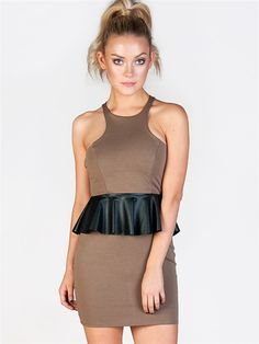 Neopolitan Peplum Dress  #zooshoo #queenofthezoo #shoes #fashion #cute #pretty #style #shopping #want #womensfashion #newarrivals
