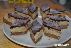 Hungarian Desserts, Home Baking, Cake Cookies, Nutella, Dessert Recipes, Food And Drink, Pie, Candy, Chocolate