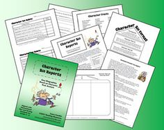 Character Bio Reports from Laura Candler ~ Aligned with Reading Informational Text and Writing Standards for Grades 3 - 6 ~ Students conduct research and write biographies based on character traits. $4.00