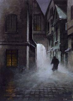 flyfishfly:   Phantom of the Opera inspired artwork by Edward Miller, pseudonym ofBritish fantasy artistLes Edwards.