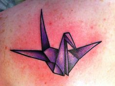 Paper Crane, Done by Samantha (Me) at Mastermind Ink in. Origami Tattoo, Tattoo You, New Tattoos, Tatoos, Henna Designs, Tattoo Designs, Tattoo Ideas, Paper Crane Tattoo, Tattoo Addiction