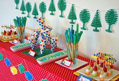Lego party (printables available to buy soon) -- esp. like the food ideas, table decor, & game ideas