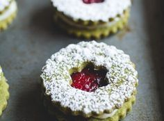 Cranberry & White Chocolate Matcha Shortbread Cookies