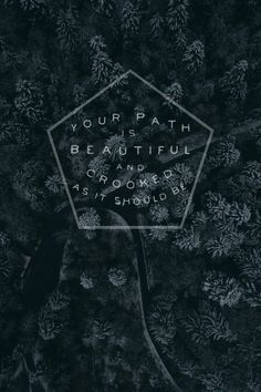 Your path is beautiful and crooked as it should be.  #madewithover