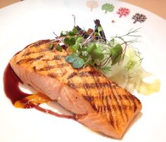 At Four Seasons NYC  grilled wild king salmon ($58)