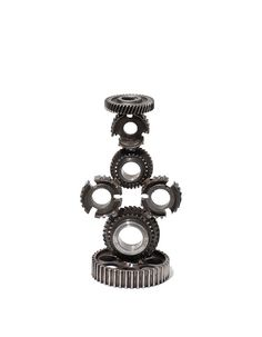 Industrial stand made of wheels releases and cogs by RECONrenewed