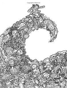 Amazon Doodle Chaos Zifflins Coloring Book Volume 3