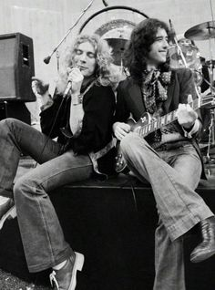 Led Zeppelin: Robert Plant and Jimmy Page photographed by Neal Preston