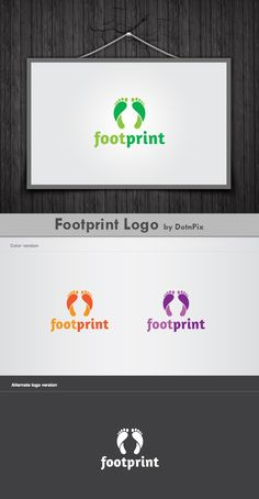 How long with your foot…  http://graphicriver.net/item/footprint-logo/2529824?ref=dotnpix