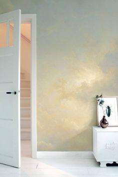 Kek Amsterdam Golden Age Clouds 1 x 280 cm felhő mintás tapéta Cloud Wallpaper, Photo Wallpaper, Golden Wall, Burke Decor, Pattern Wallpaper, Home Interior Design, Interior Stairs, Interior Paint, Colorful Interiors