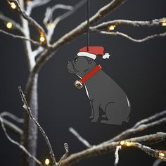 French Bulldog xmas decoration £7.50 at www.twowoofs.co.uk
