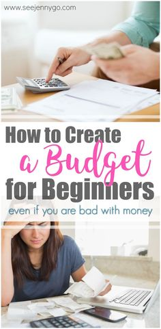 Even people who are horrible with money can start a budget with this easy step by step guide.