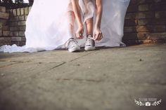 converse wedding shoes <3