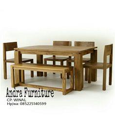 Meja makan kayu jati   produk set meja makan kami ini spesial menonjolkan kualitas kayunya dan corak jatinya.