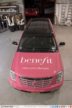 Uber NYC and Benefit Cosmetics wrapped a series of Cadillac Escalade ESVs for New York Fashion Week. Visit uber.com/benefit - #BeautyRescue #NYFW