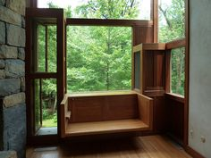 Window seat detail in the Norman & Doris Fisher House in Hatboro, Pennsylvania by Louis Kahn