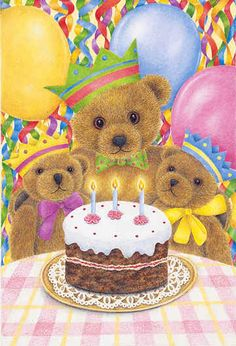 Happy Birthday Bears Art of Anne Mortimer