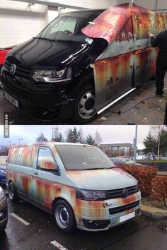 New week - new PICDUMP! Have fun with the pictures :) - Lustige Augenblicke - Volkswagen, Vw T5, Car Memes, Car Humor, Camouflage, Transport Pictures, Car Wrap, Car Insurance, Van Life