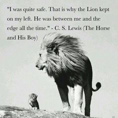 The Lion has been between me and the edge all the time, as well. Lewis - The Horse and His Boy.The Chronicles of Narnia Bible Verses Quotes, Faith Quotes, Book Quotes, Aslan Quotes, Quotes Quotes, People Quotes, Lyric Quotes, Movie Quotes, Cs Lewis Quotes