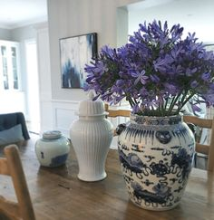 Blue and white styling
