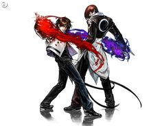 kyo(left) and iori(right) from the king of fighters series