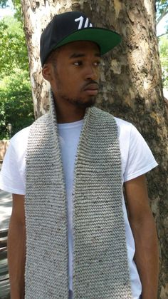 Your Favorite Winter Accessory! Unisex Knitted- Cozy - Warm Scarf. This scarf will compliment any outfit and/or outerwear. Knitted with soft