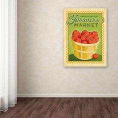 Trademark Fine Art Farmers Market Canvas Art by Anderson Design Group, Size: 24 x 32, Multicolor