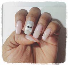 Pink gel nail art baymax tsum tsum cnd brisa gel kawaii 3d