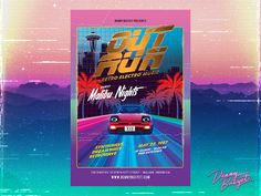 """Check out my @Behance project: """"Out Run 80's Synthwave Flyer Template"""" https://www.behance.net/gallery/51822223/Out-Run-80s-Synthwave-Flyer-Template"""