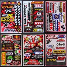 6 Sheets Stickers Bomb Logo Motorcycle Car Skateboard Laptop Race Vinyl Decal