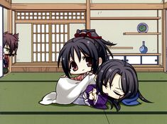 Hakuouki - Yukimura Chizuru and Hijikata Toshizo and Okita in the background ;)