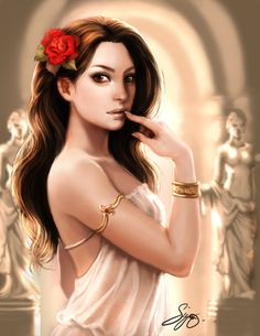 Aphrodite (Venus) - Greek Goddess of Love, Beauty, Pleasure, and Procreation ~ Art by KamillYonsiya