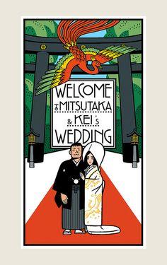 ウェルカムボード Wedding Poster | by Studio-Takeuma
