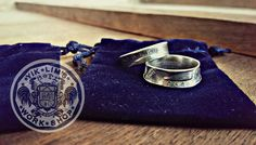 silver us quarter dollar coin rings