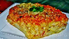 Torta de Batatas com Molho de Aveia ~ Veganana