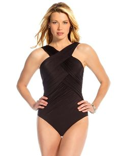 Miraclesuit® Criss Cross One-Piece Swimsuit