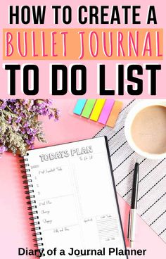 All the best tips and tricks to creating your own bullet journal to do list to be always organized and productive! Find layout ideas, page inspiration and a free printable to do list here! Creating A Bullet Journal, Bullet Journal For Beginners, Bullet Journal Hacks, Bullet Journal How To Start A, Bullet Journal Layout, Bullet Journal Inspiration, Bullet Journals, Journal Ideas, To Do Lists Printable