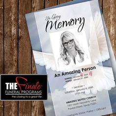 HEAVENLY DOVE ... printable funeral program by TheFinaleFnrlPrgrms