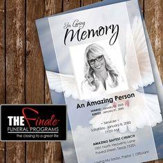 HEAVENLY DOVE ... printable funeral program por TheFinaleFnrlPrgrms