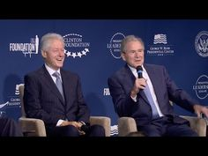 George W. Bush Calls Bill Clinton His 'Brother From Another Mother' - YouTube