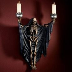 This isn't normally my 'thing' when it comes to Halloween decor. But someone took an existing, almost cheesy product, distressed it and actually made it a pretty great-looking piece. Halloween Prop, Dollar Store Halloween, Halloween Skeletons, Halloween Projects, Holidays Halloween, Halloween Decorations, Halloween Lighting, Halloween Poems, Halloween Magic