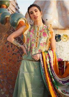 Limelight LAWN coton costume brodé vert prêts Pakistani Salwar Kameez