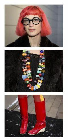 Schräge Vögel, Style-Queens & Mode-Aficionados abseits der New Yorker Modewoche: Amy Vandoran aus Florida. Mehr dazu hier: http://www.nachrichten.at/nachrichten/society/New-Yorker-Fashion-Week-gestartet;art411,1299849 (Bild: Reuters)