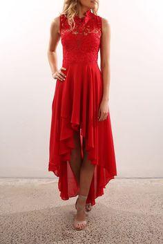 Do It Again Maxi Dress Red