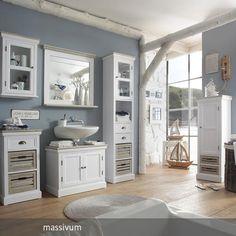 badschrank weiß, badezimmer ideen, Landhausstil, schrank weiß ... | {Badmöbel weiss landhaus 22}