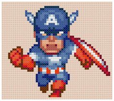 Captain America pattern by PDFcrossstitch