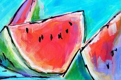 Wedgies Painting by Judy Rogan - Wedgies Fine Art Prints and Posters for Sale