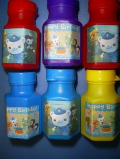 OCTONAUTS Birthday party favors Personalized bubbles