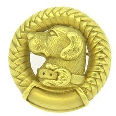 Barry Kieselstein Cord Labrador Dog 18k Gold Brooch Pin